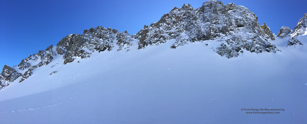 More couloirs await on you on Nokhu Crag's East Ridge!