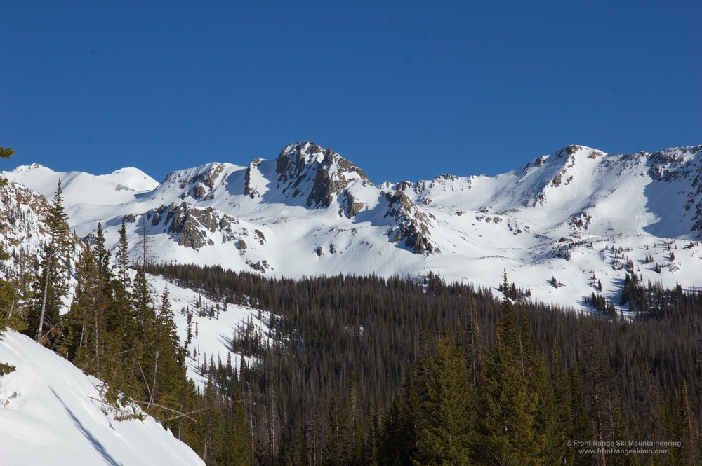 The south side of Point 12,253' has a lot of terrain to play on.