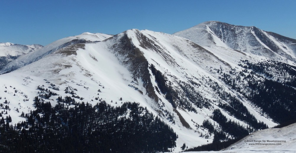 Mount Machebeuf from the south.