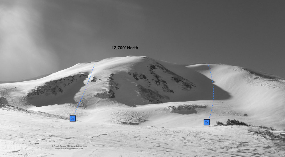 The North Twin 12,700' Peak at Jones Pass.
