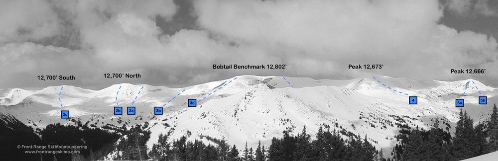 Bobtail Benchmark and Jones Pass are north. Photo: Rob Writz