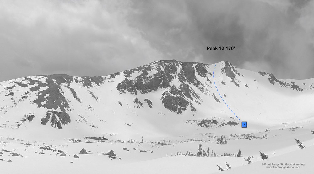 Peak 12,170' from the north.