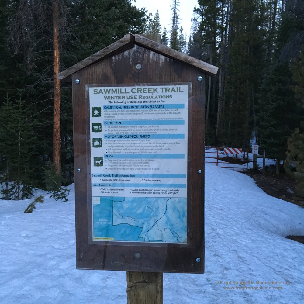 Sawmill Creek Trailhead is a brief hike up Highway 14 from Blue Lake Trailhead.