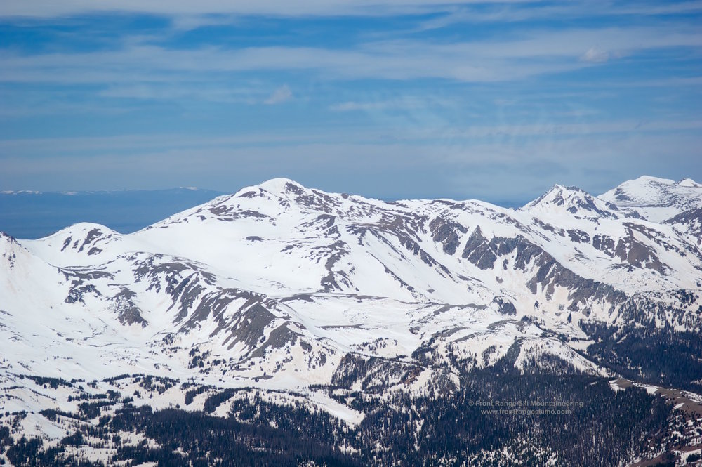 Clark Peak and Clark Bowl from the southeast.