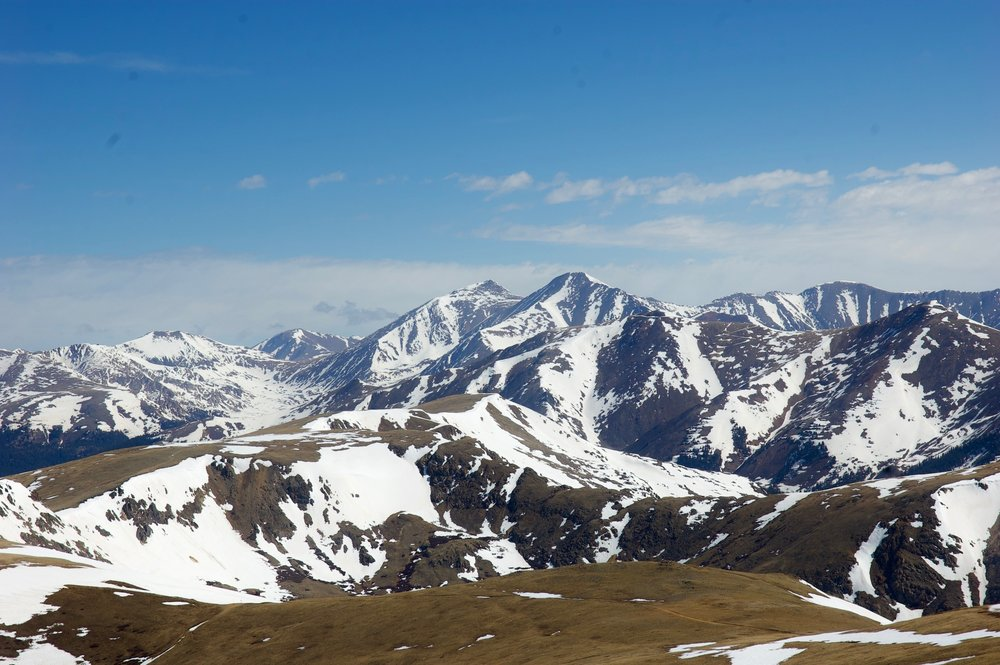 Looking north to Chihuahua Gulch, Grays & Torreys Peaks, and the mountains above Montezuma.