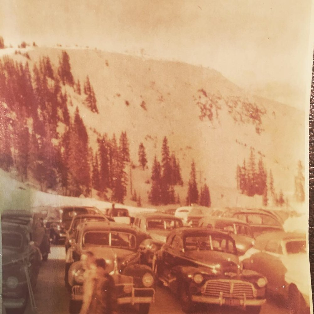 Looking up at the West Side of Berthoud Pass in 1949.