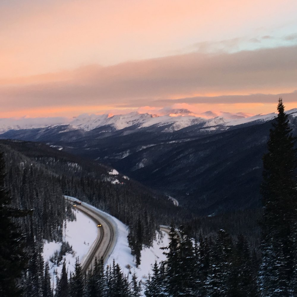 Looking north from Berthoud Pass at dawn.