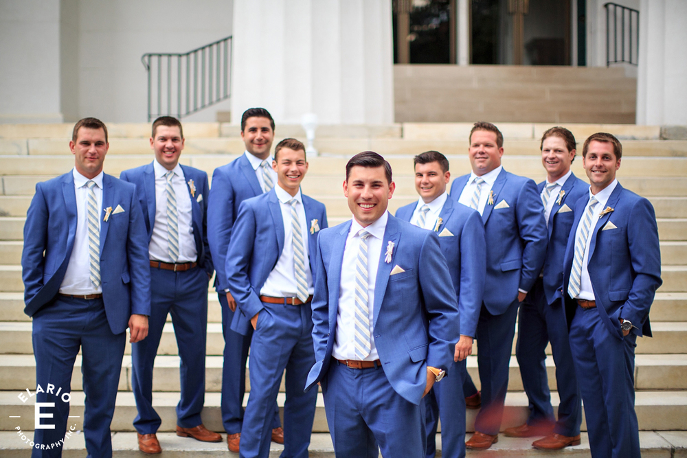 Custom bouttonieres fot the Groom and Groomsmen. Sometimes we don't mind not using flowers!!