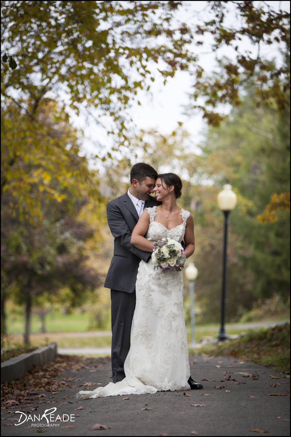 Love love love this photo! Nicole and Dan look so in love and the changing leaves create such a beautiful backdrop.