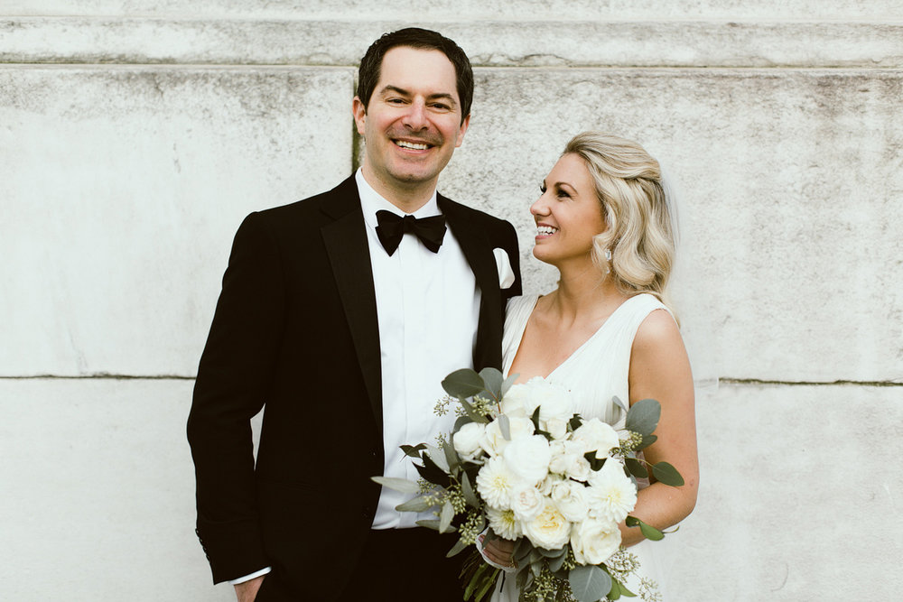 Beautiful couple, Sophisticated Bridal Bouquet, Saratoga Springs, Lisa and Will's Wedding at Bryant Park, NYC, www.snfloraldesign.com