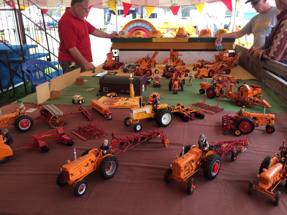 George Lininger's collection of custom MM toys in the display tent.