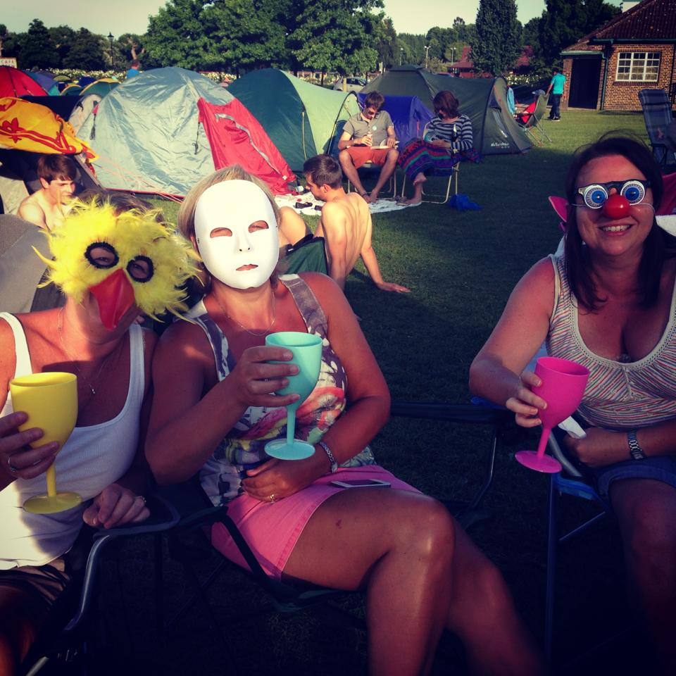 Some of my gorgeous masks, worn by fellow campers, that were thrown out! Boooooo!