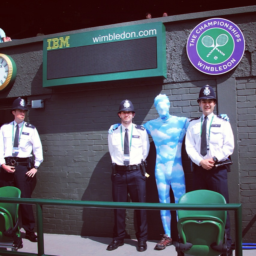 With the bobbies at Wimbledon 2013 on Center Court.