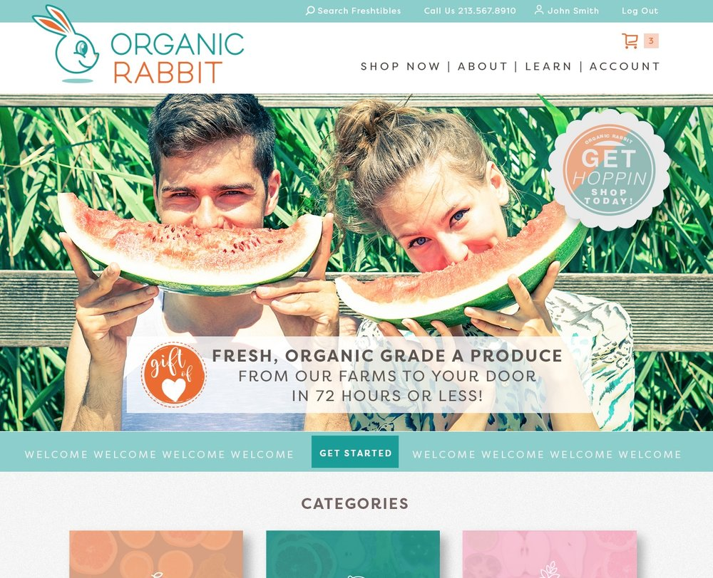ORGANIC RABBIT HOME PAGE