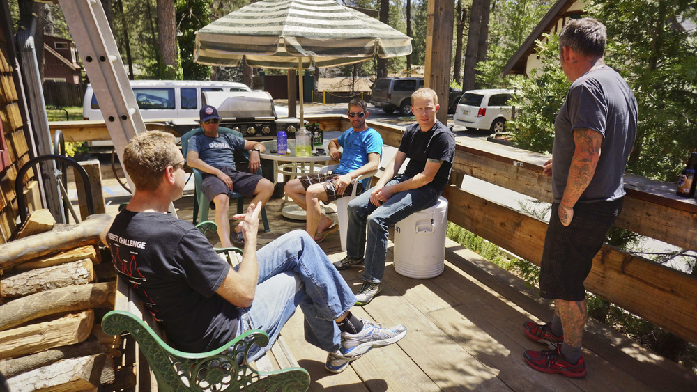 L to R: Tyrel Beede, Jay Petervery, Eddie O'Dea, Brendan Collier, Kevin Hinton at The Hub Cyclery in Idyllwild, CA. (c) Josh Spice 2013