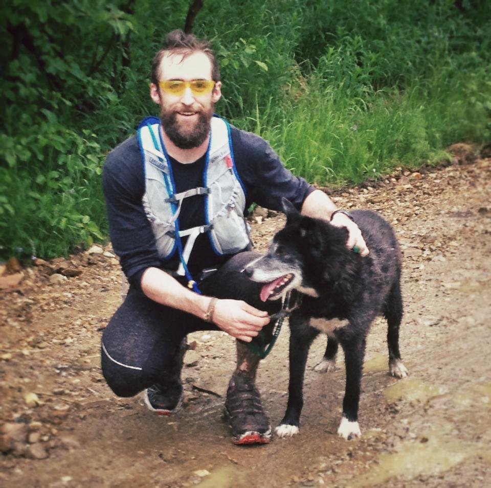 Frostbite & I after a 7 mile run on local IMBA singletrack. Photo by Brett