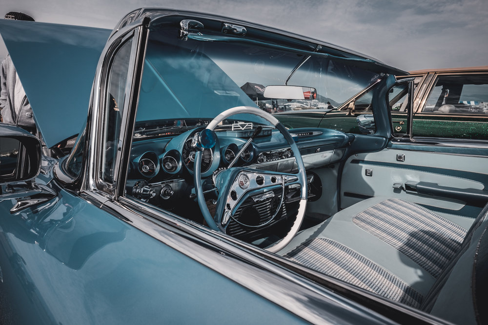 1959 Chevrolet Impala front seat.