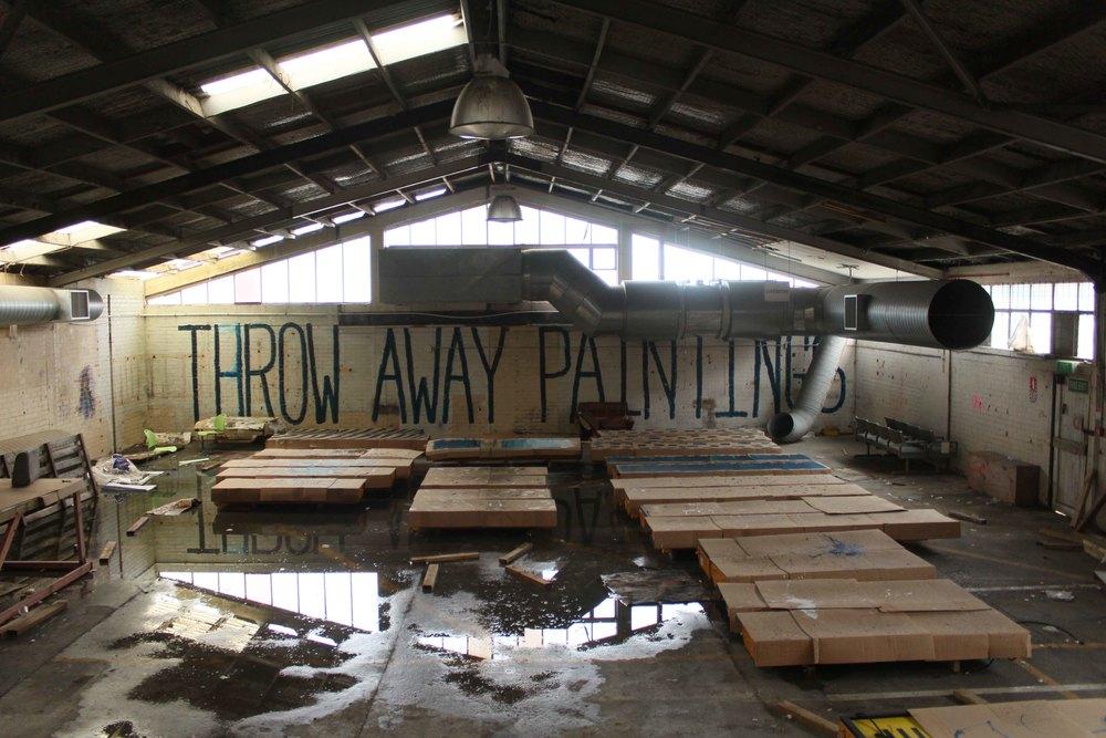 Throw Away Painting - bent