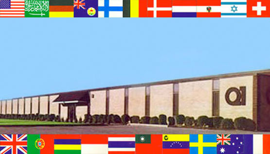 Figure 5.     Q1 Facility in Hauppauge. The flags indicate some of the countries where Q1 computers were installed.
