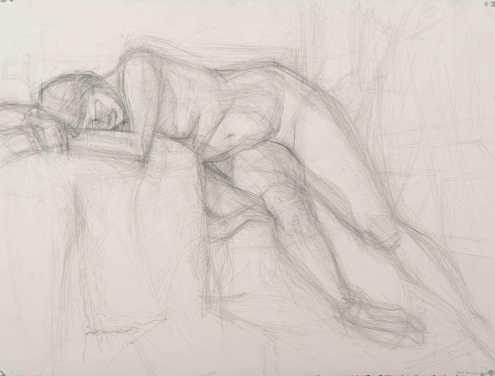 Nude Study Graphite on Paper Jesse Thomas