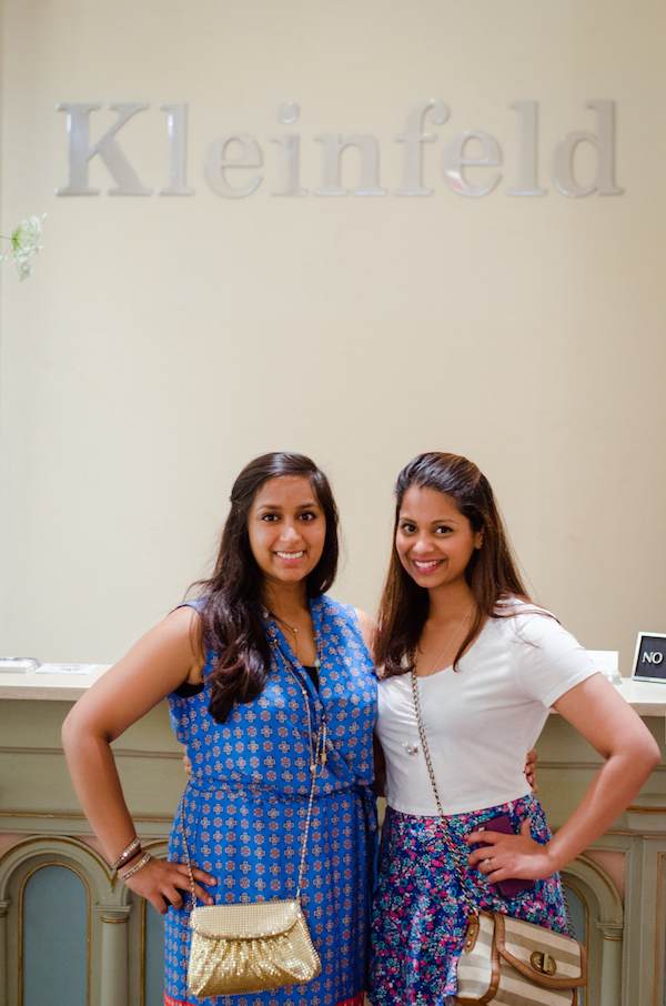 Left: Me, Natasha Miller and on the right is my friend, Rohini as we're hunting for the perfect wedding dress.