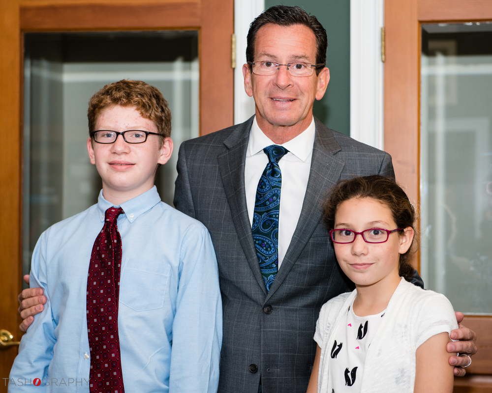 Gov. Malloy and Eagle Hill Students