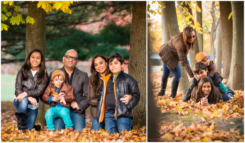 Family portraits at Saxon Woods Golf Course