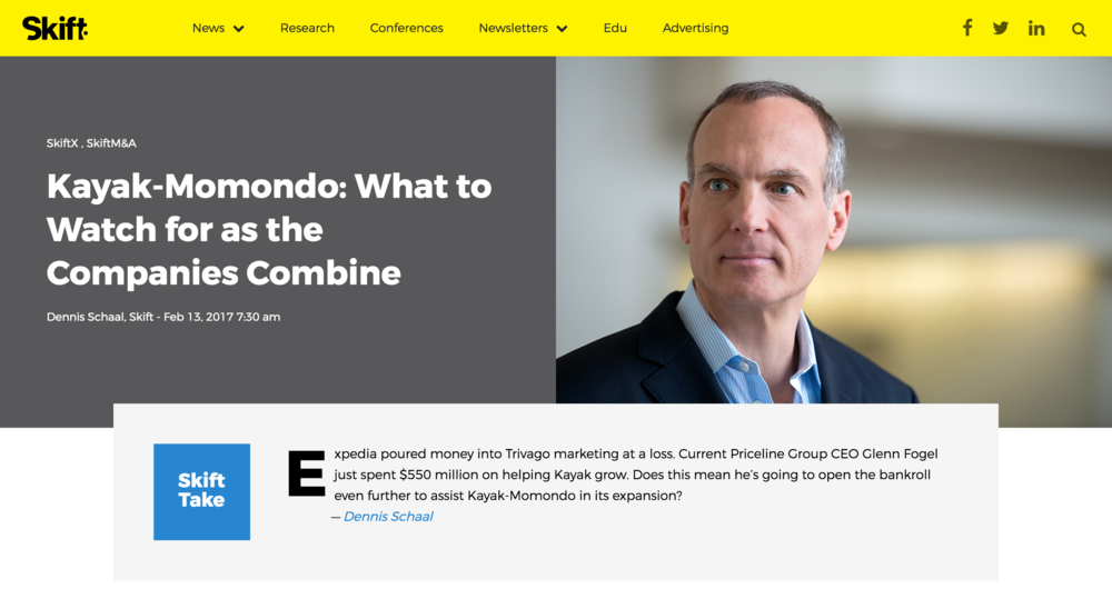Here's a screenshot of the corporate headshots in use in an article from Skift.