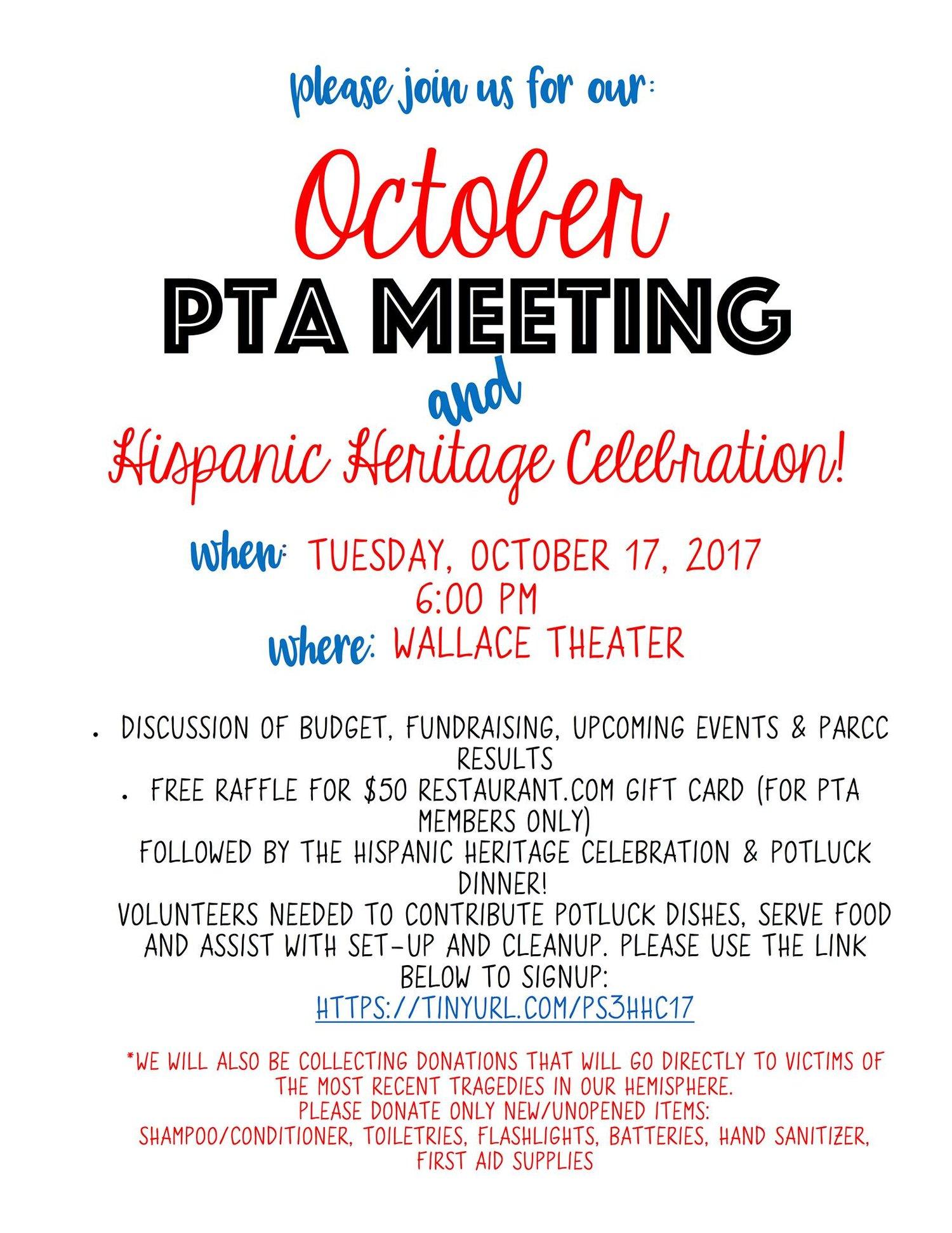 PTA Meeting this Tuesday — PS3 PTA