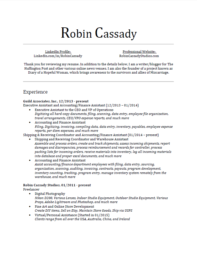 Resume willing to learn