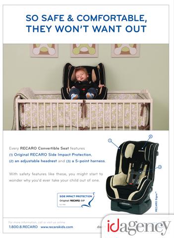 2009 Recaro Child Seat Division Advertisement