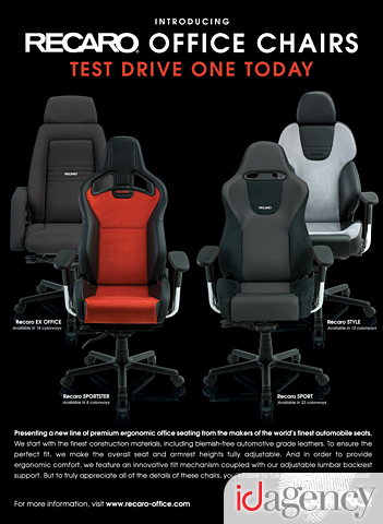 Recaro Office Chair Collection Advertisement  sc 1 st  The ID Agency & The Robb Report Helps Launch the Recaro Office Chair Collection ...