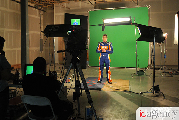 NASCAR driver Kyle Busch at the NOS Energy Drink Team Photoshoot
