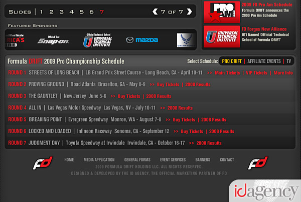 Formula DRIFT website update 2