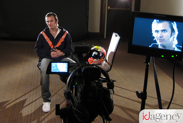 Dan Wheldon at the NOS Energy Drink Shoot