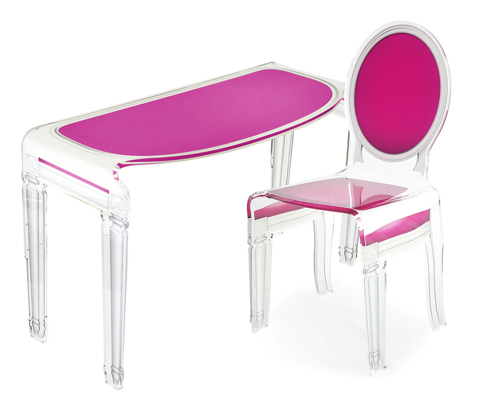 Kids Desk Bureau enfant rose.jpg