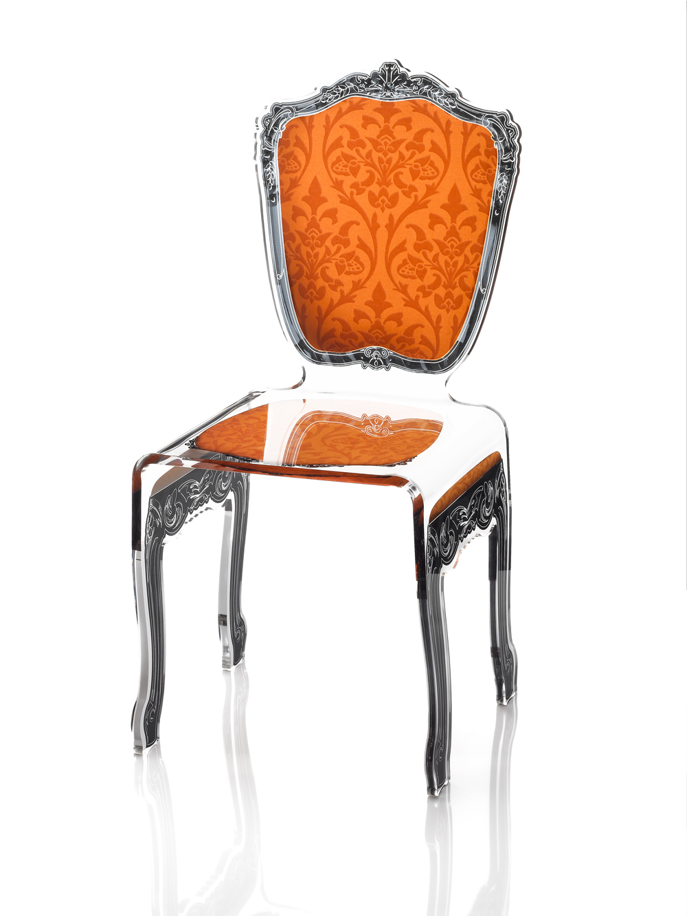baroque chair orange - Chaise Orange