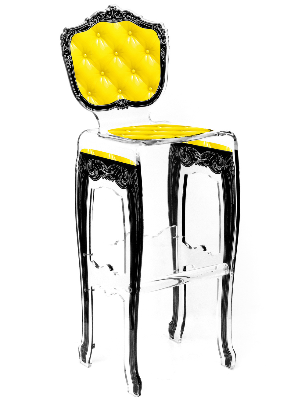 Barstool Plexi Yellow