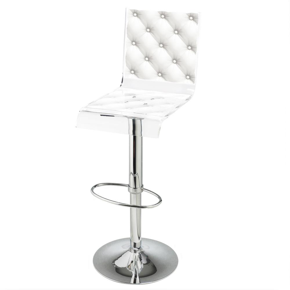 Barstool Pedestal White
