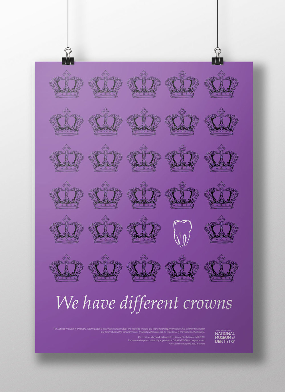 We have different crowns Dentistry Poster