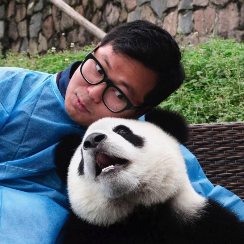 Ben hanging with Pandas last month. Priceless.