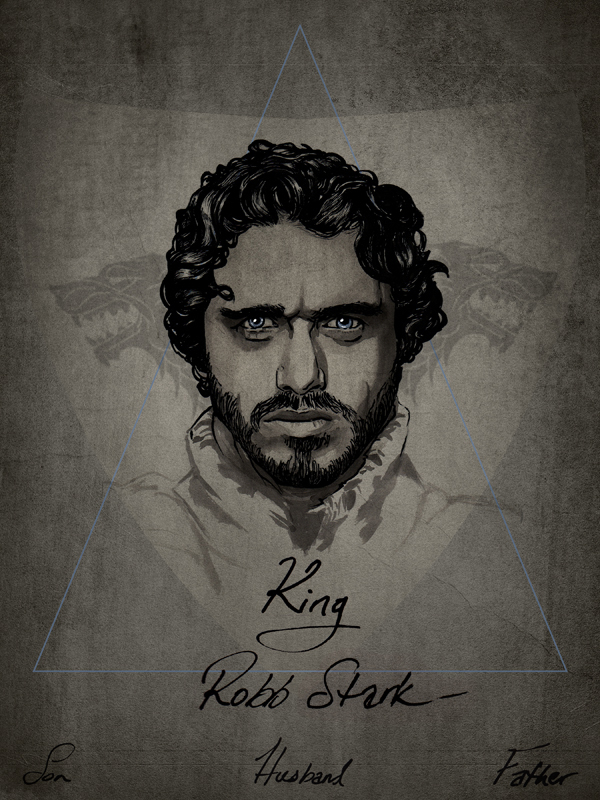 COUNTDOWN TO NEW WORK.  R.I.P Robb Stark  Prints available for purchase  here .