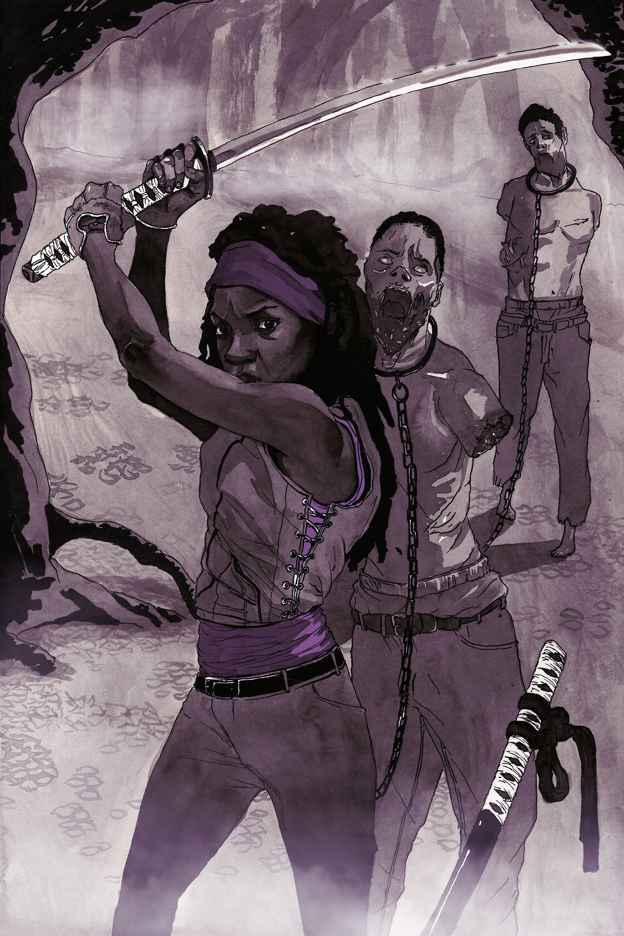"COUNTDOWN TO NEW WORK. ""Michonne"" Prints available for purchase here."