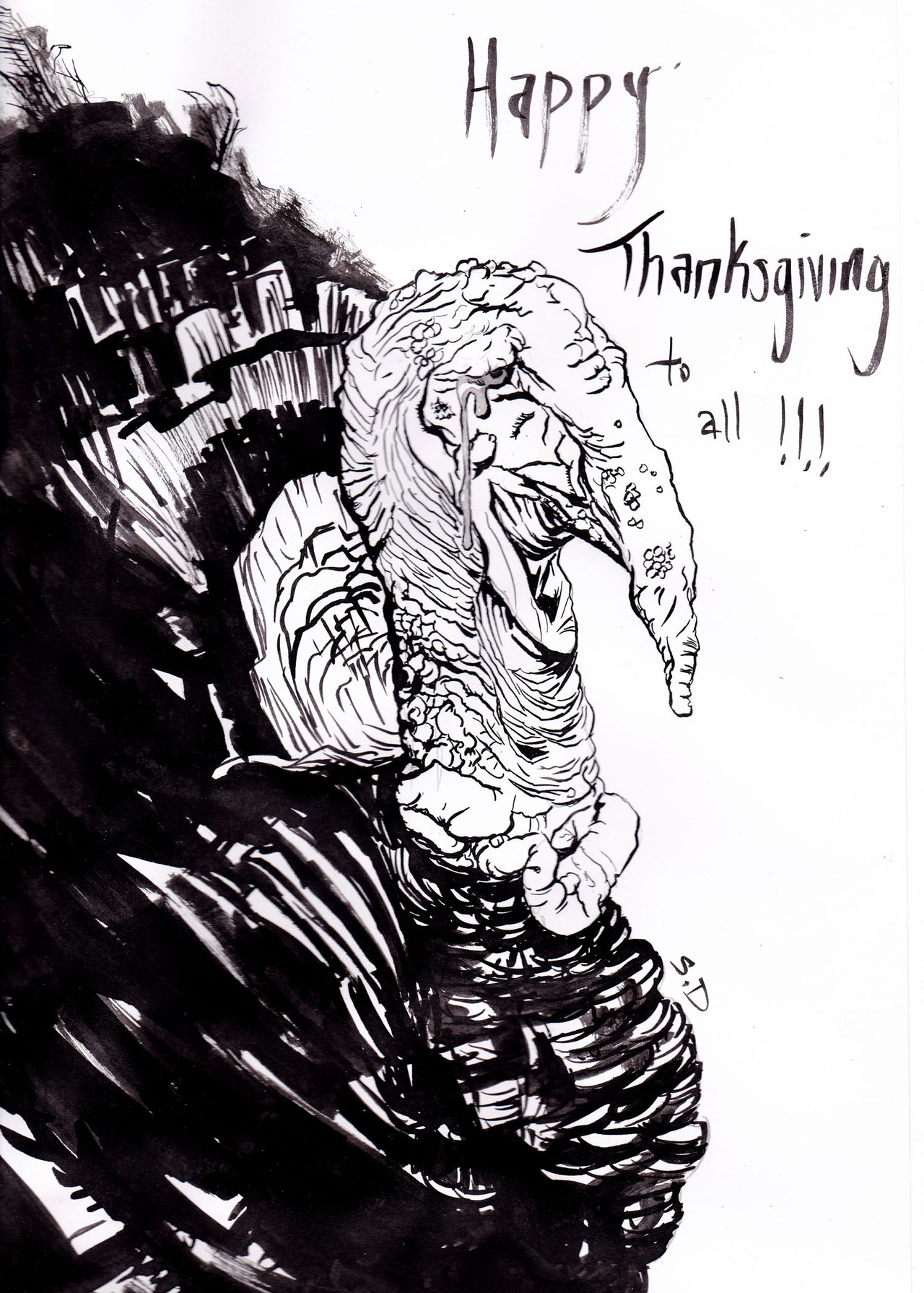 A quick sketch to say Happy Turkey Day to all!!