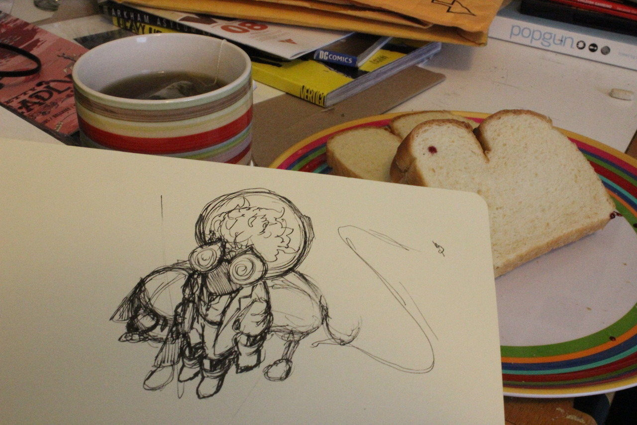 Food X Sketches. I wonder if I'm the only one that sets their pictures up like a loser. Those sandwiches were strategically placed.