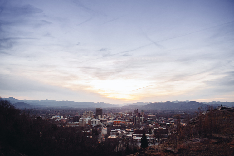 Skyline of Asheville, NC