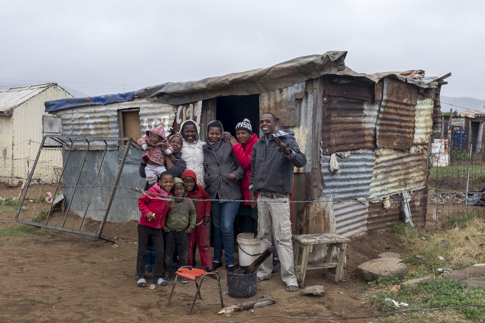 Mr Mtshange's neighbours came out to see what we were doing and asked for a photograph.
