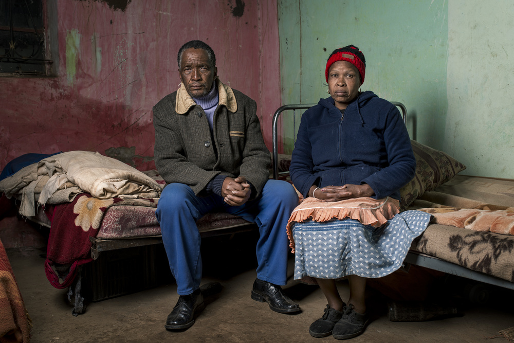 Zamukulungisa Dyanti & Betty Mkefa in their home.