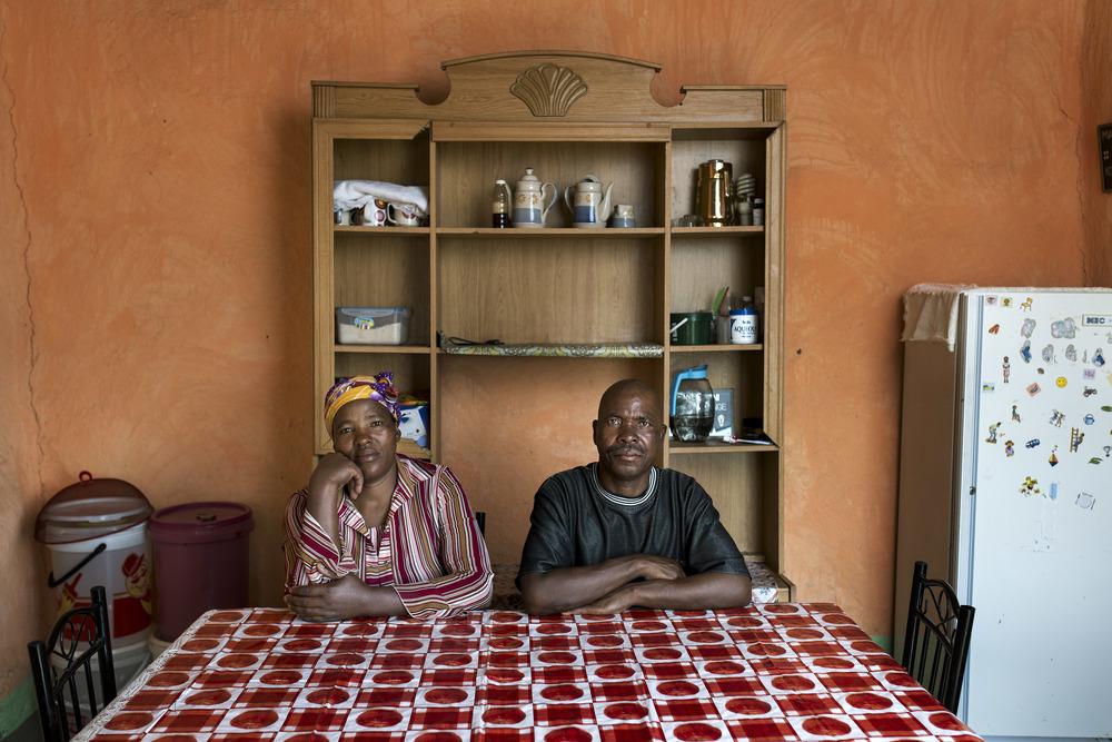 Zama & Matshozi Gangi in their kitchen.