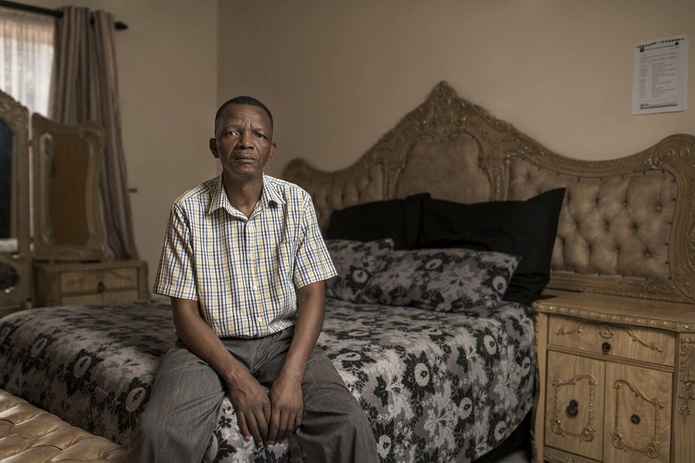 Mantso Mokoena at home in Welkom